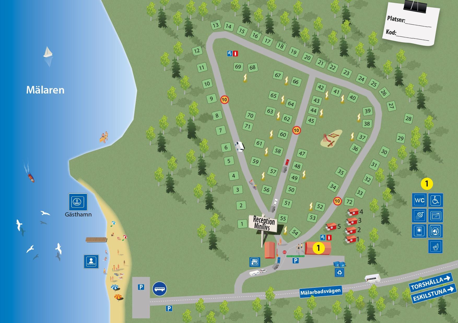 gästhamnar mälaren karta campingkarta malarbaden II   malarbadenscamping.se gästhamnar mälaren karta